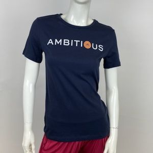 """Tory Burch - """"Ambitious"""" Graphic Tee (NEW W TAGS)"""